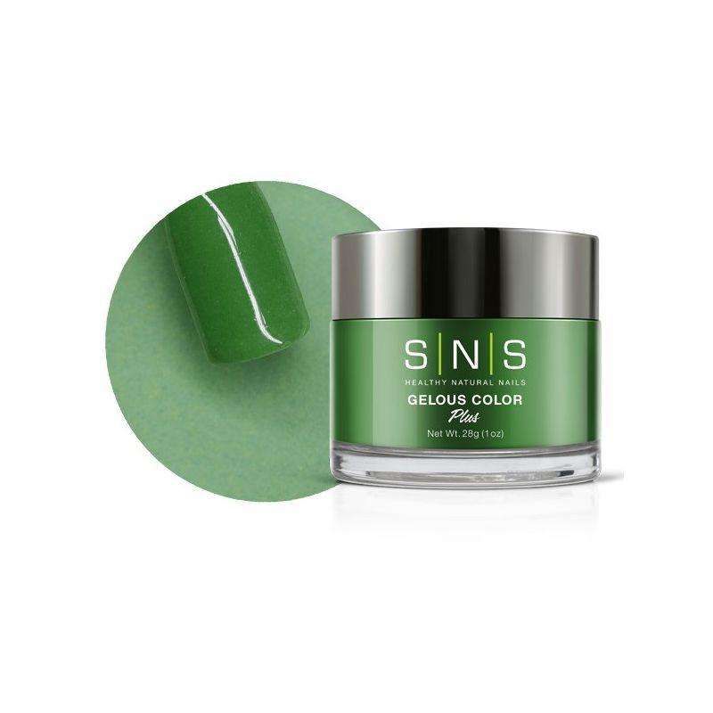 SNS #017 Gelous Dipping Powder 28g (1oz) Go Green